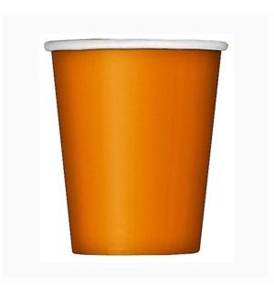 UQ #32246 9OZ PAPER CUPS/ORANGE