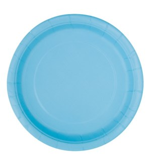 "UQ #30899 9"" RD PLATE/POWDER BLUE"