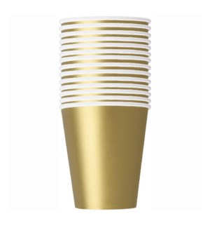 UQ #33246 9OZ PAPER CUPS/GOLD
