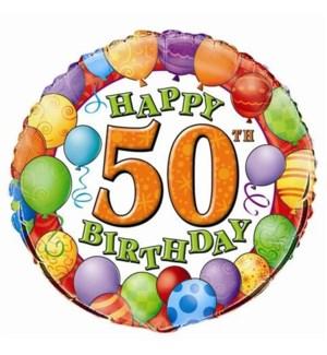 BALLOON #53082 HAPPY 50 BIRTHDAY