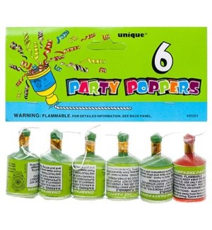 FW #90263 PARTY POPPERS