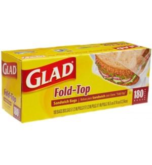 GLAD #60771 SANDWICH BAGS FOLD TOP