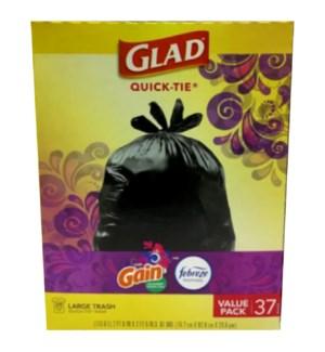 GLAD #22242 LARGE TRASH BAGS W/GAIN FEBEREZE