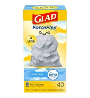 GLAD #78361 TALL KITCHEN BAGS FRESH CLEAN