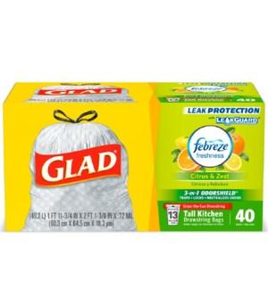GLAD #78366 TALL KITCHEN BAG CITRUS & ZEST