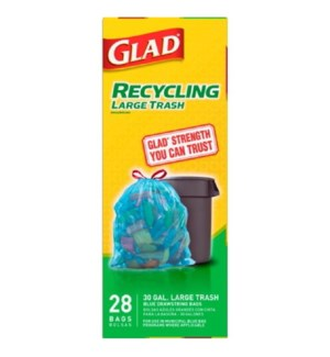 GLAD #78544 LARGE TRASH BAGS RECYCLING
