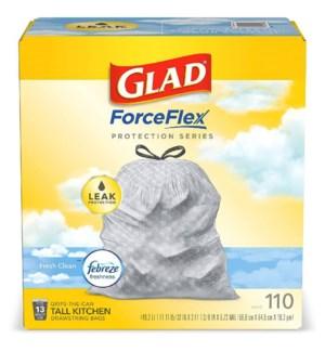 GLAD #78554 TALL KITCHEN BAGS FRESH CLEAN FEBREZE