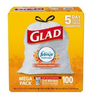 GLAD #78603 TALL KITCHEN BAGS HAWAIIN ALOHA ODOR