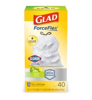 GLAD #78767 TALL KITCHEN BAGS CLOROX CLEAN CITRUS