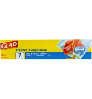 GLAD #78836 GALLON FREEZER ZIPPER BAGS