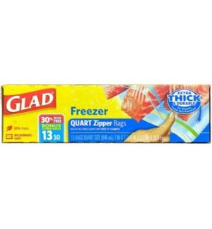 GLAD #79039 FREEZER BAGS ZIPPER