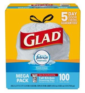 GLAD #79125 TRASH BAG MEGA PACK FEBREZE
