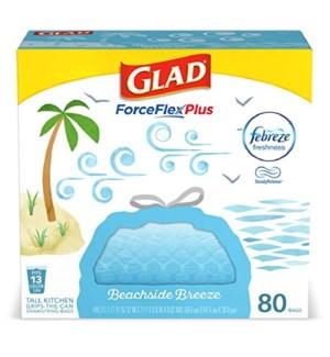 GLAD #79206 TALL KITCHEN BAGS BEACHSIDE BREEZE