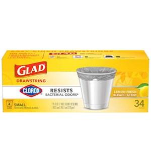 GLAD #79314 BAGS DROWSTRING SMALL LEMON FRESH