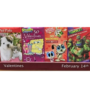 V #968 VALENTINE KIDS CARDS