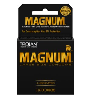 TROJAN 1CT MAGNUM BLACK CONDOMS