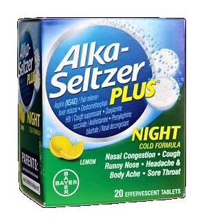 ALKA SELTZER NIGHT + PLUS
