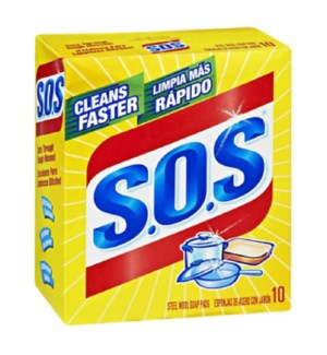 S.O.S SOAP PADS #10003 STEEL WOOL SOAP PADS
