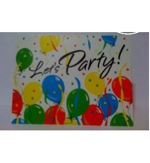 INVITATION CARDS #37081 B'DAY