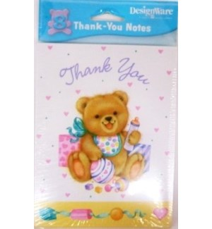 THANK YOU CARDS #71223 BABY SHOWER