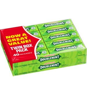 TWIN BOX #72 DOUBLEMINT WRIGLEY'S
