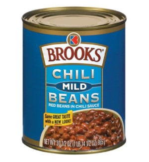 BROOKS CHILI MILD BEANS IN CAN