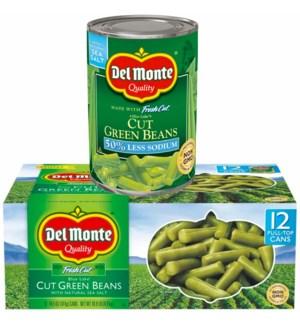 DEL MONTE GREEN BEANS #16272 W/NATURAL SEA SALT