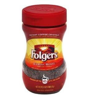 FOLGERS INSTANT COFFEE #20083 REGULAR