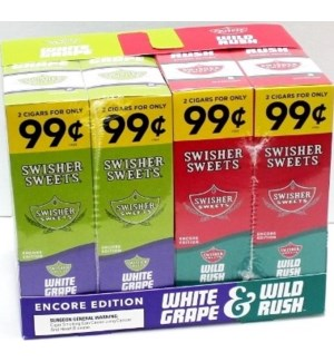 SWISHER SWEETS PP.99 WILD RUSH & WHITE GRAPE