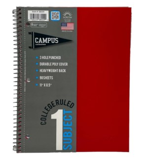 1-SUBJECT NOTEBOOK #38009 COLLEGE RULED