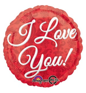 BALLOON #25566 I LOVE YOU