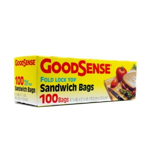 GOOD SENSE #GDS24S100 SANDWICH BAGS