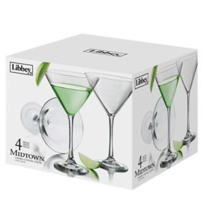 MARTINI GLASSES #7507S4B 4PK SET, LIBBEY