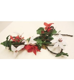 CH-MAS #33608220 FLORAL GARLAND WBERRIES