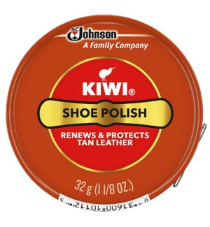 KIWI #10112 SHOE POLISH TAN PASTE