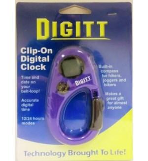 DIGITT #3017 CLIP ON DIGITAL CLOCK/BOX