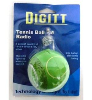 DIGITT #3052 TENNIS BALL FM RADIO