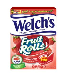 WELCH'S #75121 FRUIT ROLLS STRAW,BERRY & TROPICAL