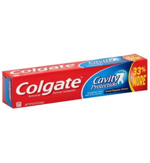 COLGATE T'PASTE #51085 CAVITY PROTECTION