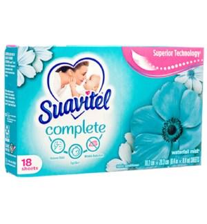 SUAVITEL DRYER SHEETS #98038 WATERFAL MIST