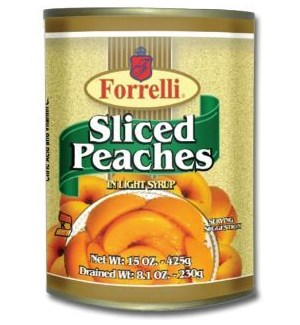 FORRELLI #60130 SLICED PEACHES IN LIGHT