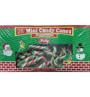 CH-MAS MINI CANDY CANE #77341 RED,GRN,WH