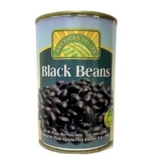 AMERICAN VALLEY BEANS #87457 BLACK CANNED