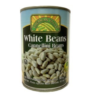 AMERICAN VALLEY BEANS #87458 WHITE CANNED