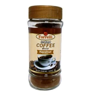 INSTANT COFFEE #87853 HAZELNUT, FORRELLI