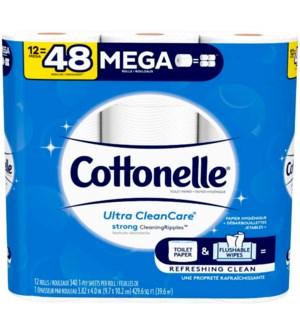 COTTONELLE #47804 CLEAN MEGA BATH TISSUE
