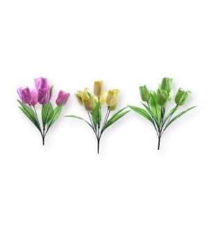 FLOWERS #10592 PASTEL TULP BUSH