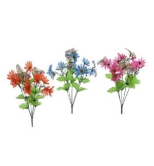 FLOWERS #15128 WILD DAISY BUSH W/BUTTERF