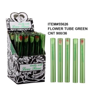 LOVE ROSE #55626 DOUBLE WALL GREEN