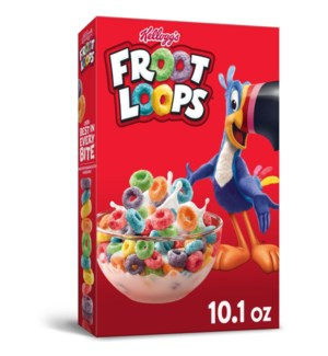 KELLOGG'S #19885 FROOT LOOPS CEREAL FRIUT FLAVORS